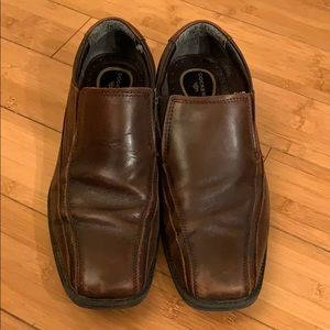 Dockers Brown Leather Upper Slip-Ons